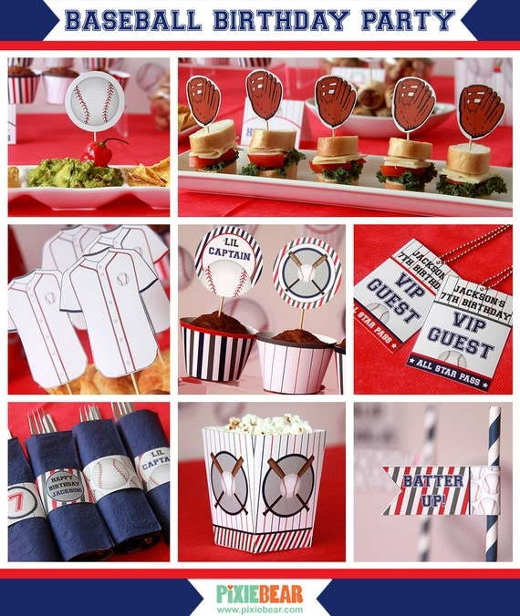 baseball birthday - baseball party - baseball decorations