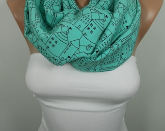 Infinity Scarf Mint Scarf Christmas Gifts Women Circle Scarf Loop Scarf Women Fashion Accessories Christmas Holiday Fashion Gifts For Her D
