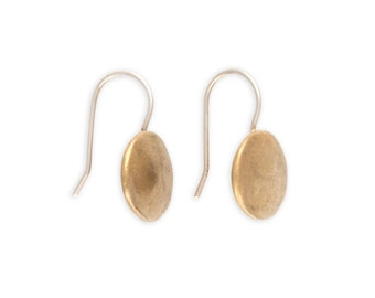 Artisan Earrings - Rustic Earrings - Bronze Jewelry - Handcrafted Earrings - Harvest Moon Earrings (EB-MN)