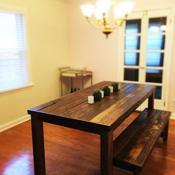barn wood dining table and bench dining table reclaimed wood dining