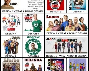 Personalised The Big Bang Theory Mug - Ceramic Coffee Mug - With any Name or Message - Gift Idea - Bazinga - Sheldon Cooper - Funny