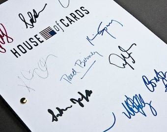 House of Cards TV Script with Signatures / Autographs Reprint Unique Gift