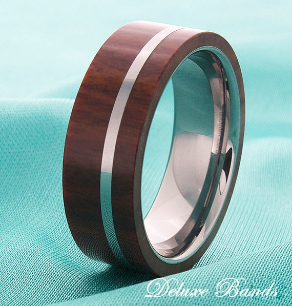 wood inlay mens tungsten wedding ring tungsten wood band mens. Black Bedroom Furniture Sets. Home Design Ideas