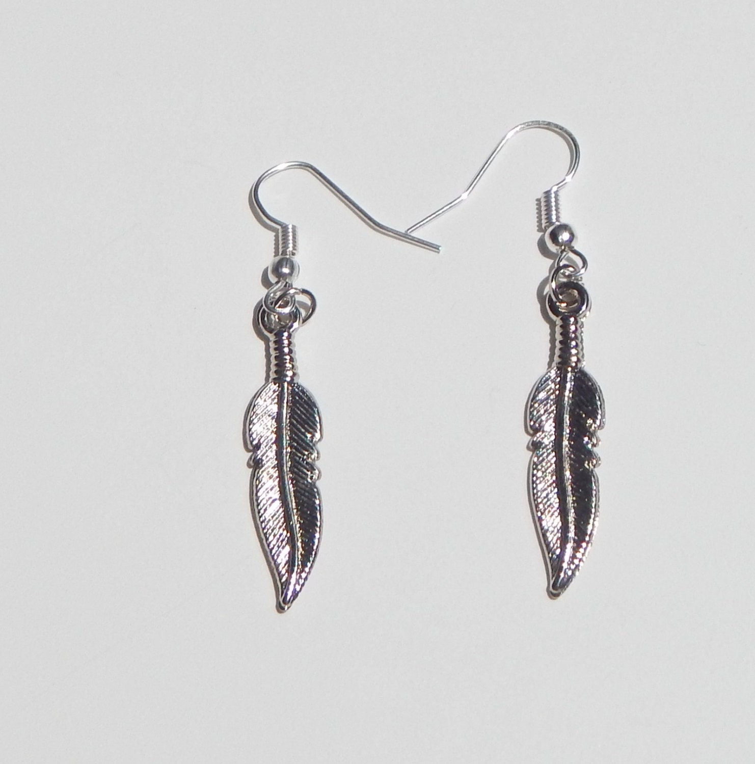 leaf earrings silver leaf earrings simple earrings