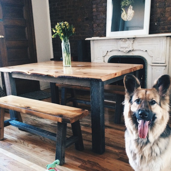 the aiden reclaimed barn wood dining table farmhouse table wide plank dining table - Barnwood Kitchen Table