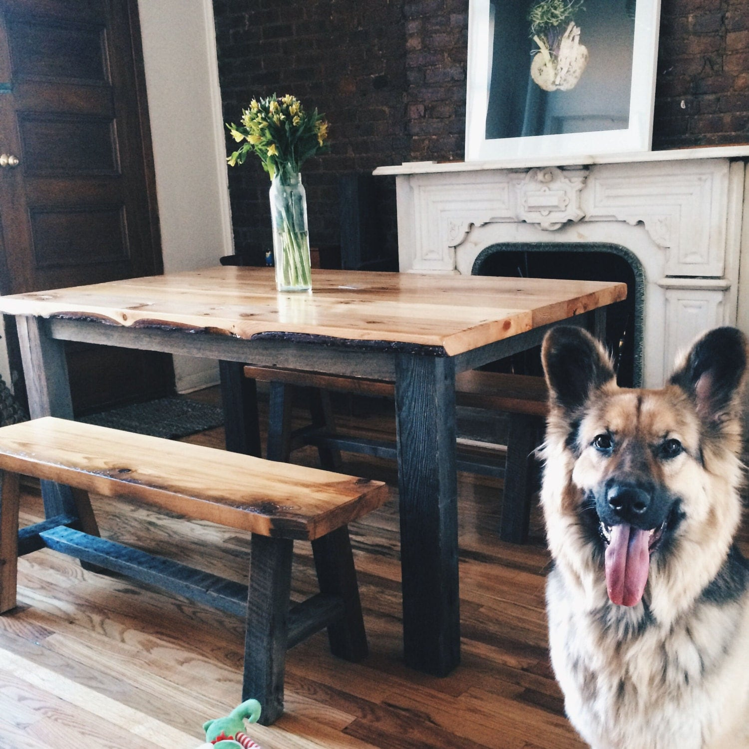 The Aiden Reclaimed Barn Wood Dining Table Farmhouse Table