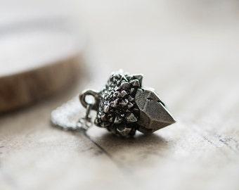 Spirit Quartz Pewter Necklace - D'lera Collection