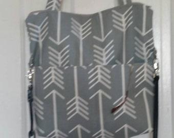 Zip Top Convertable Tote/Cross Body Bag