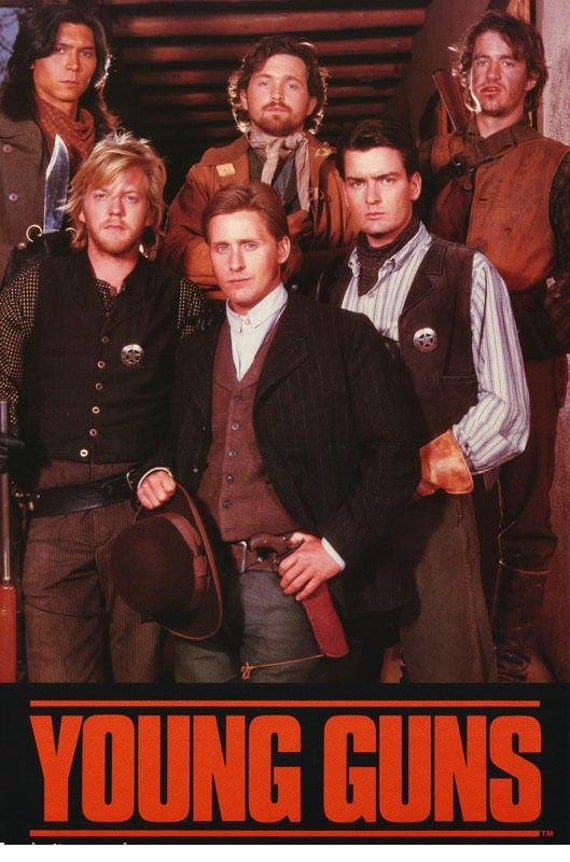 Young Guns Movie Emilio Estevez Kiefer Sutherland Charlie