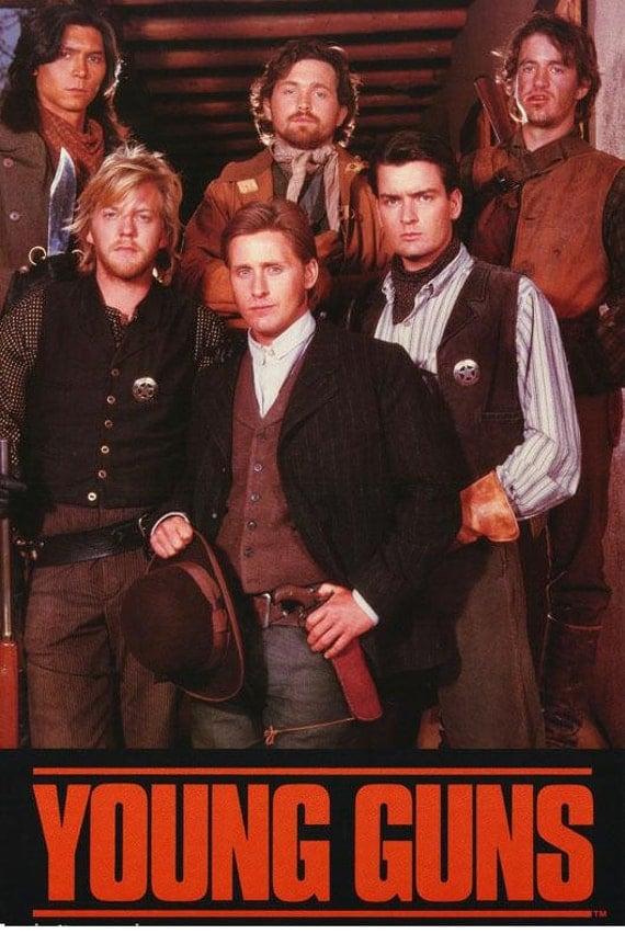 Young Guns Movie Emilio Estevez Kiefer Sutherland Charlie