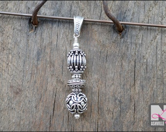 Sterling Silver Bali Bead Pendant (SP101)