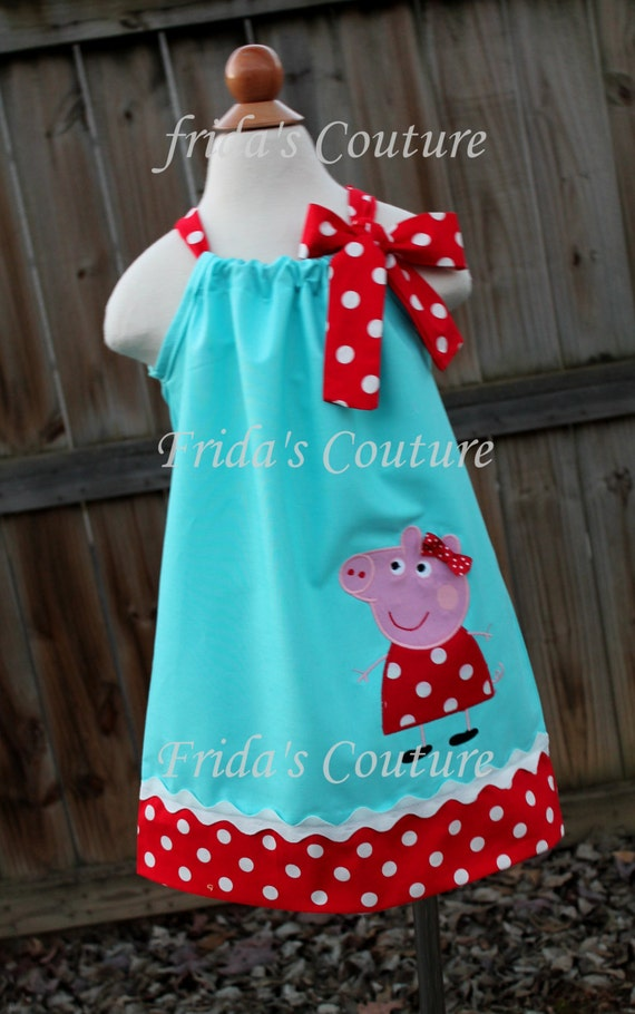Items similar to Super Cute Girl pig pillowcase dress by Frida s Couture on Etsy