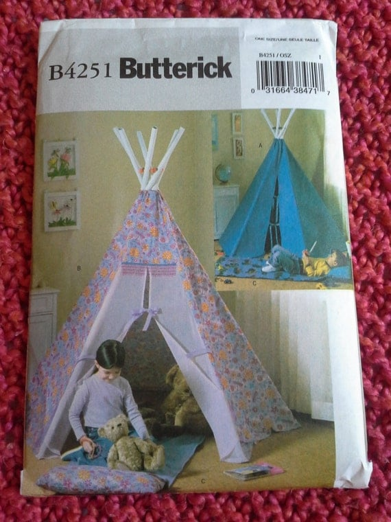 butterick teepee sewing pattern b4251 teepee sewing pattern