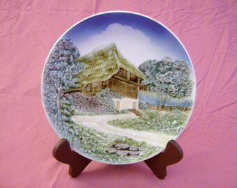 Vintage Retro, Raised Relief Collector Plate, Made in Western Germany, circa 1950's