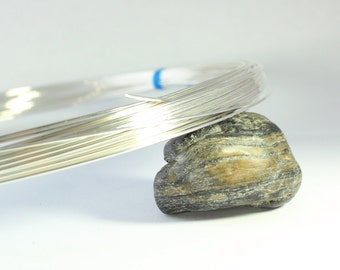 Half Hard Half Round 18, Sterling Silver Wire, 18 gauge, Half Hard Half Round Wire, Pendant Wire, Ring Wrapping Wire