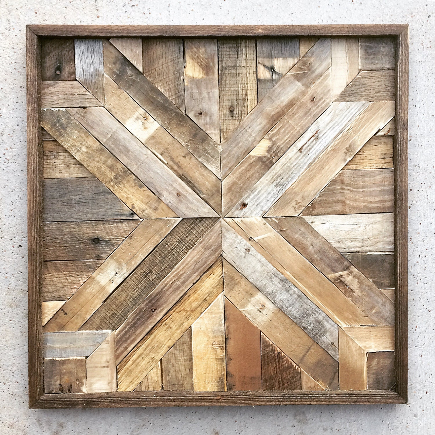 Wall Art With Barn Wood : Reclaimed wood wall art barn