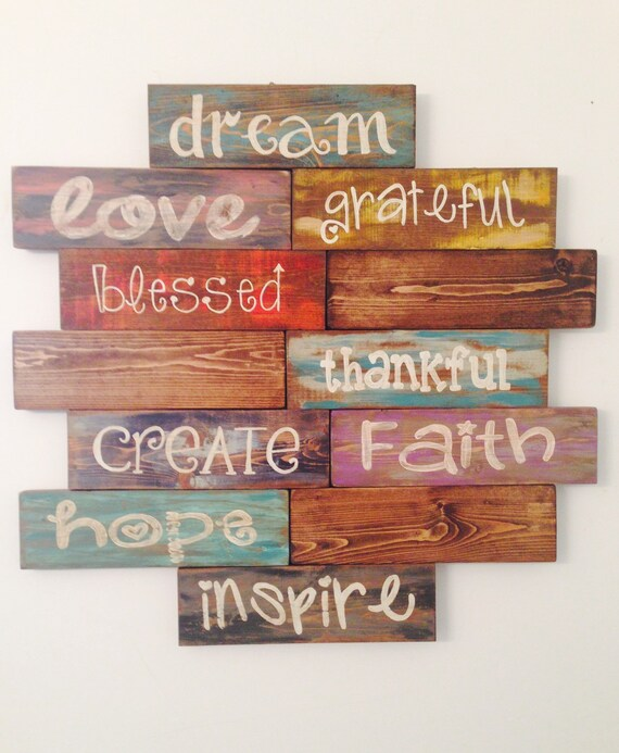 Inspirational Quotes On Wood: Items Similar To Inspirational Quote Wood Sign Rustic Wood