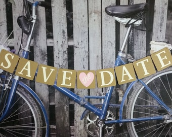 Save The Date Banner, Save The Date Sign, Save The Date Photo Prop,Wedding Date Announcement
