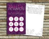 Make Up Rewards Cards | 100 - 250 - 500 | Customer Loyalty Program | Direct Sales Marketing | Small Business Tools | KFT Design