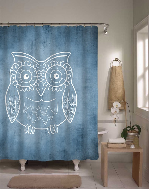 Shower Curtain Owl Abstract Decor Many Colors