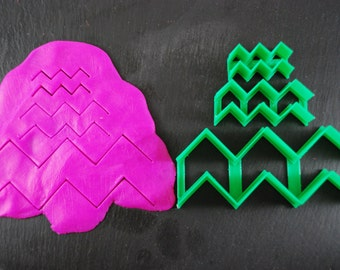 Open Chevron 5 Sizes Cookie Cutters, 1.5in Mini to 5in Large Sizes