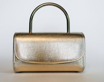 1950's Garay metallic gold handbag, box purse