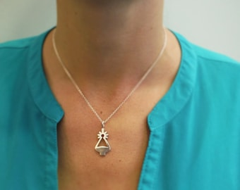 Virgen de Covadonga pendant, Asturias, sterling silver, handmade, gift, three different sizes