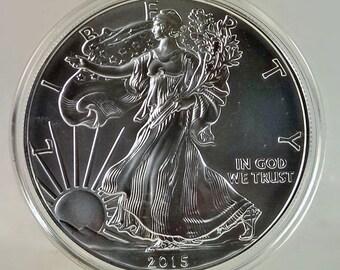 2015 Silver American Eagle (BU) w/ Air-Tite Case