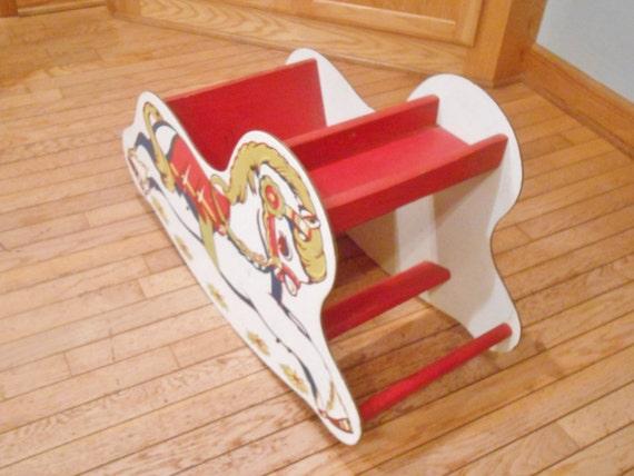 Rocking Horse Seat ~ Vintage rocking horse seat sleigh child s chair