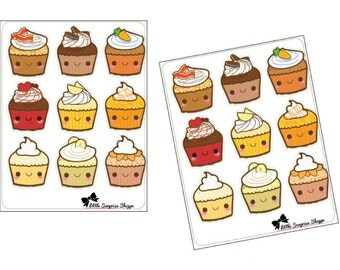 F013- I love cupcakes Stickers
