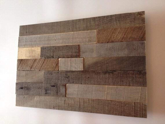Modern Rustic Wall Decor: Rustic Wall Art Made From Reclaimed Wood Abstract Modern