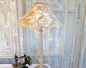 TOILE De JOUY Shabby chic, Provencal style LAMPSHADE