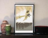 """1914 Imperial German Air Service Taub (Dove) 11""""w x 17""""h Print"""