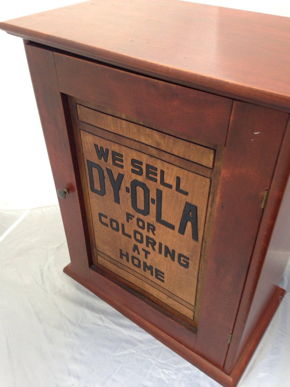 Antique Dyola Dye Cabinet
