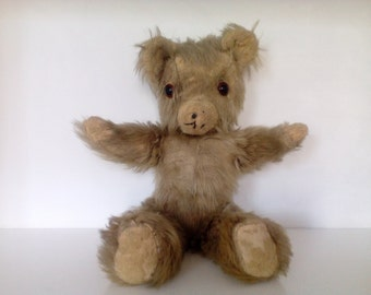 Antique Teddy Bear. Mid Century Bear Toy.