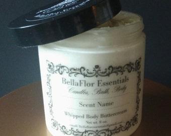BellaFlor Essentials 8 oz Homemade/Handmade Whipped Body Butter Cream