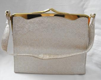 Vintage 1960s Lurex evening purse.