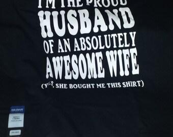 Proud Husband tshirt