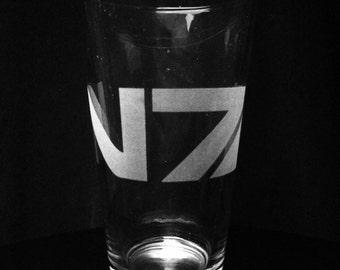 Mass Effect Inspired- Pint Glass