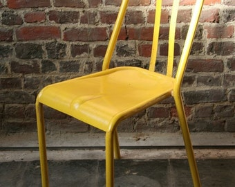 Retro French Style Bistro chair - Yellow