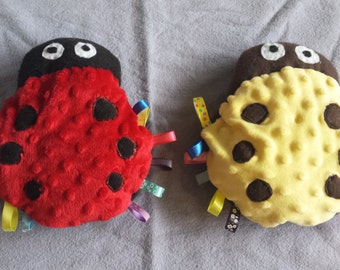Ladybug toy with tags