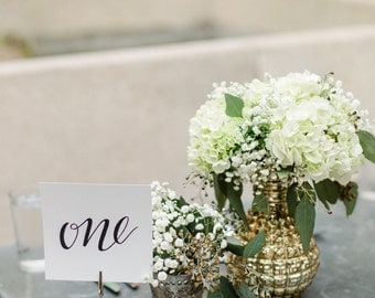 Wedding or special event table numbers for guest seating