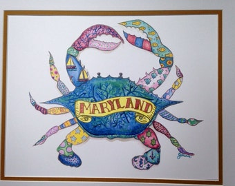 Colorful Maryland Crab