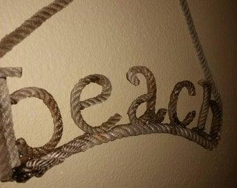 Rope Beach Sign