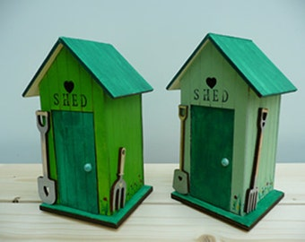 Hand painted little garden shed