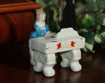 Lady Playing Piano Figurine