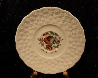 Copeland Spode Painted Fruit and Flowers Bone China Display Saucer