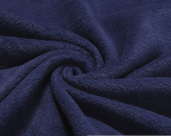 Fabric polyester fleece dark blue anti-pilling warm soft polar fleece