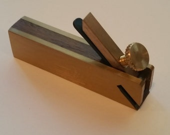 Wood and brass violin instrument makers plane  carpenters woodworking plane