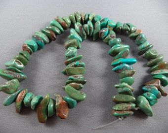 Genuine Turquoise Chip Beads - 10 to 18mm - 15 Inch Strand